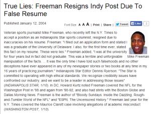 Freeman Resume