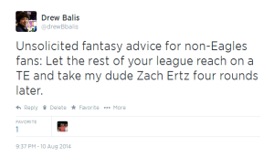 Zach Ertz Tweet